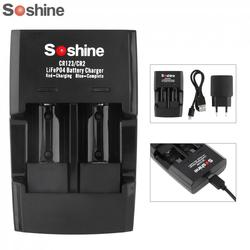 Soshine Smart Intelligent Rapid Battery Charger for LiFePO4 Li-FePO4 RCR123 RCR2 CR2 16340 17335 16340P Quick Battery Charger