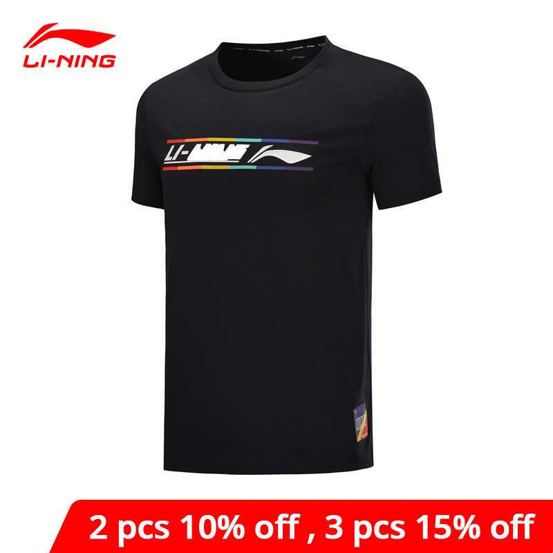 Li-Ning Men The Trend Sports T-Shirts Colorful Print Regular Fit 65%Cotton 35%Polyester LiNing Li Ning Sport Tee AHSQ055 MTS3157