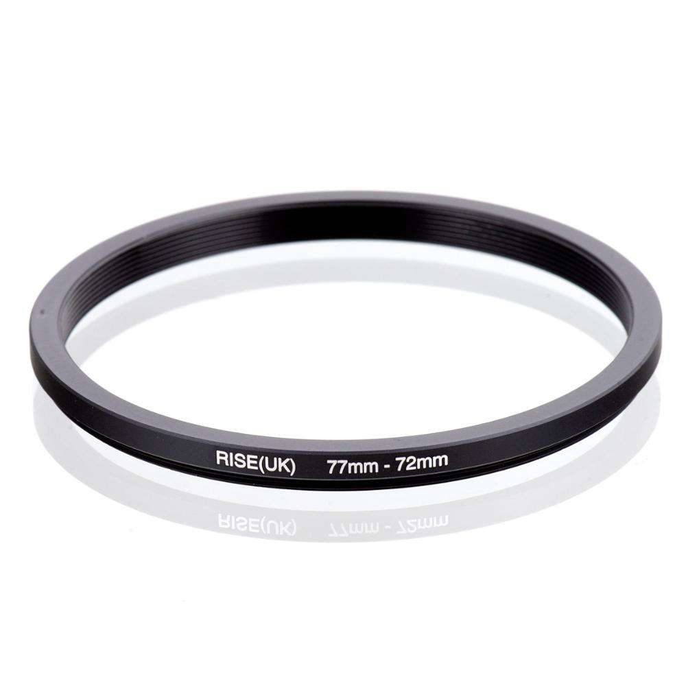 RISE(UK) 77mm-72mm 77-72 Mm 77 To 72 Step Down Filter Ring Adapter