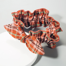 Oxford Cloth Scrunchies Large Intestine Check Hair Ring Chiffon Printing Elastic Rubber Band Hair Ring Rope Tie for Fashion Lady wild hair band female striped wild color large intestine ring elastic band hair ring hair rope hair accessories coconut tree