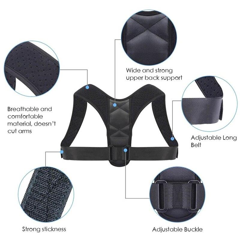 Adjustable Medical Men women Back Posture Corrector Clavicle Spine Shoulder Lumbar Brace Support Belt for Adult Kids C55 in Tank Tops from Women 39 s Clothing