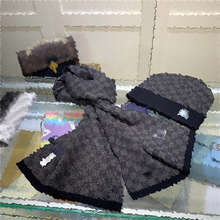 Scarf-Set Hat Beanies Knitted-Caps Girls Winter Fashion Men for Warm Pompoms And