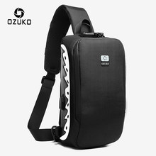 OZUKO New Men Shoulder Bag Anti-theft Crossbody Bag Splashproof Male Messenger Bags Fashion Reflective Sling Bag for Teenagers(China)