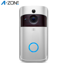 A-ZONE 1080P WIFI Doorbell Camera Chime Smart IP Video Intercom Door Bell IR Nig