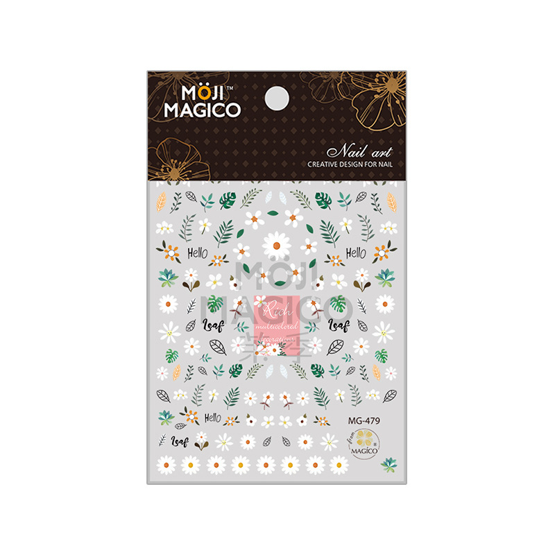 New Products Wholesale 2019 Magico Ultra-Thin Gum Nail Sticker Nail Ornament 479 Small Flower