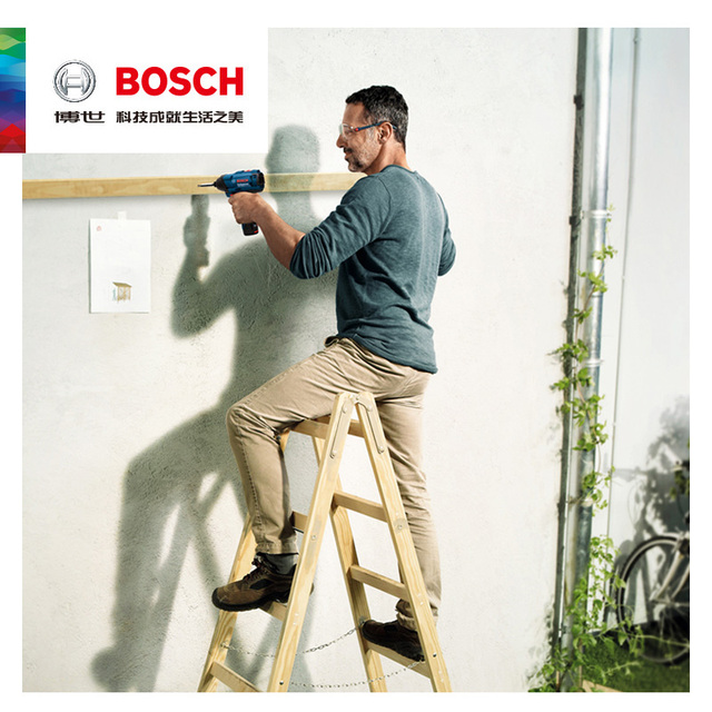 Bosch electrical impact screwdriver gdr120-li power tools lithium battery charging electric screwdriver hand drill diy tools