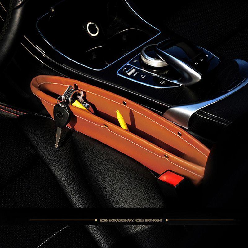 Автомобильный ящик для хранения, автомобильный слот, сумка для хранения, карманный слот, кожаная сумка для хранения, Автомобильный интерьер...