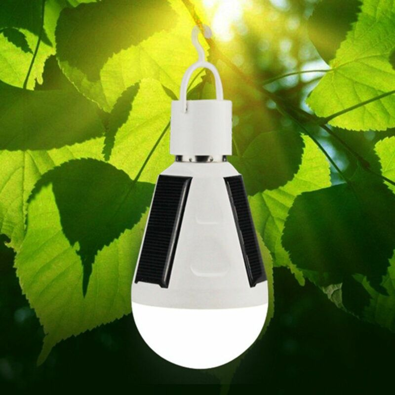 2020 Newest Home Outdoor LED Solar Light Bulb 7W E27 Tent Camping Fishing Solar Lamp Rechargeable Portable LED Solar Light