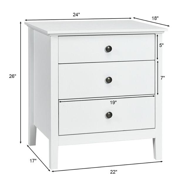 Accent Table Organizer W/3 Drawers  2