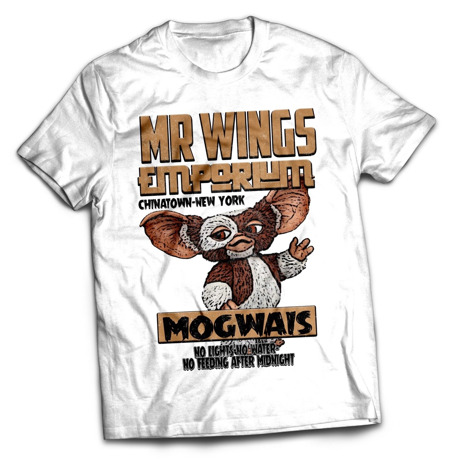 Gremlins Mogwai Inspired The Goonies 80s Retro Italian Movie Film T Shirt Clothes Popular T-Shirt Crewneck 100% Cotton Tees image