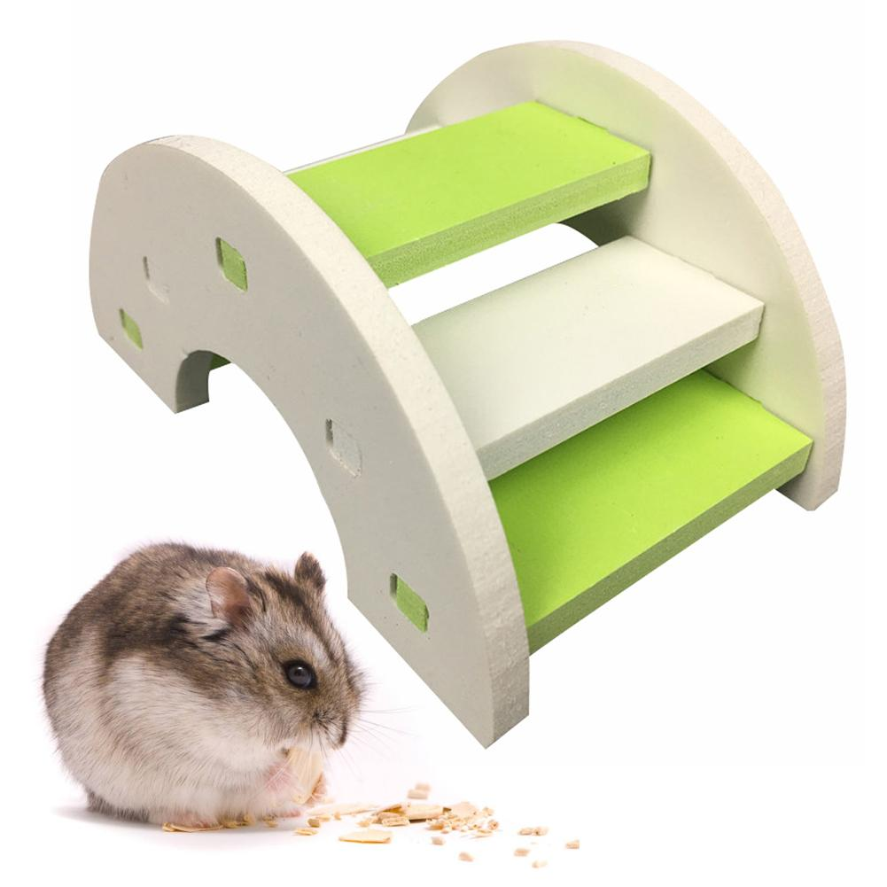 Hamster Toy Wooden Bridge Hamster Supplies Eco-friendly Wooden Bridge Ladder Seesaw Syrian Hamster Toy Wooden Bridge