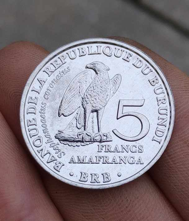 Burundi 5 francs 26mm Africa Coins Old Original Infrequent Coin Commemorative Edition 100% Real Random Year