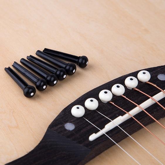 6pcs Guitar Bridge Pins Classical Style Acoustic 6-String Guitar Bridge Pins Musical Stringed Instruments Guitar Accessories