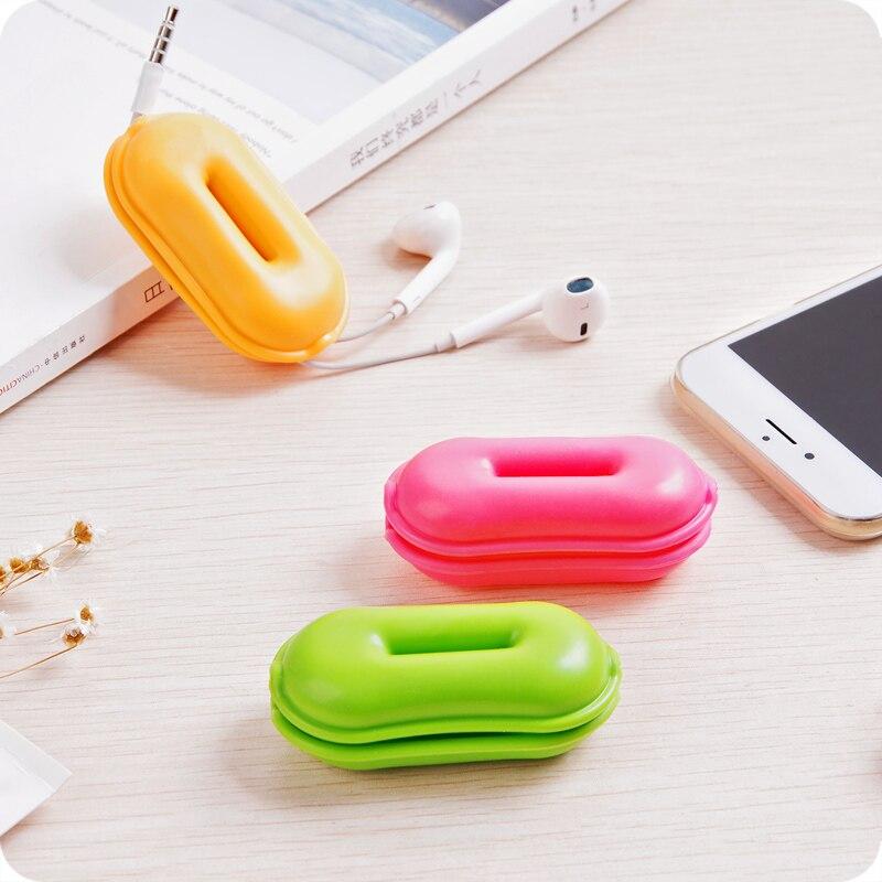 Style arachide écouteur câble organisateur écouteurs support Wrap casque gestion du cordon câble enrouleur