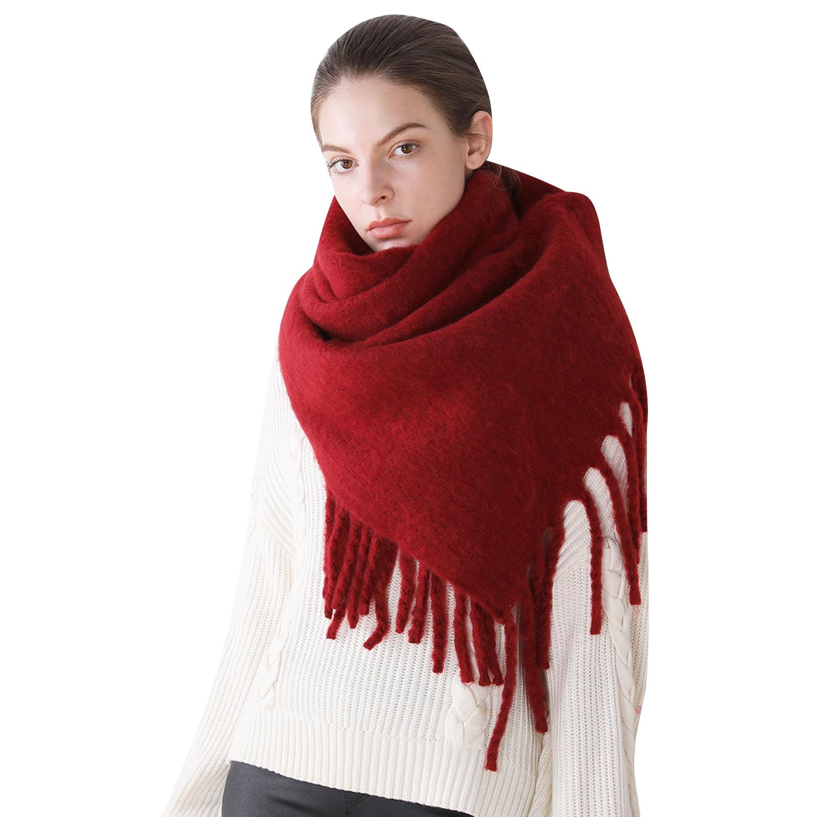 2020 Women Scarf Shawls Wraps Lady Solid Female Head Scarves Wrap Blanket Warm Wholesale Autumn Winter Foulard Thick Blanket