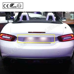 Image 5 - ペアナンバープレートエラーフリー18 SMD led電球6000 18kクールな車のアクセサリーのためのフィアット500 abarth 500 2007 2020
