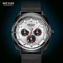 MEGIR 2020 Luxury Top Brand Watches for