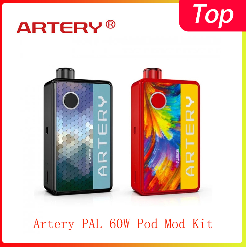 Newest Artery PAL 60W Pod Mod Kit Powered By 18650 Battery & 3ml Cartridge All-in-one E-cig Vape Kit VS Pasito/VINCI
