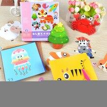 100pcs Kids cartoon color paper folding and cutting toys/children kingergarden art craft DIY educational toys,