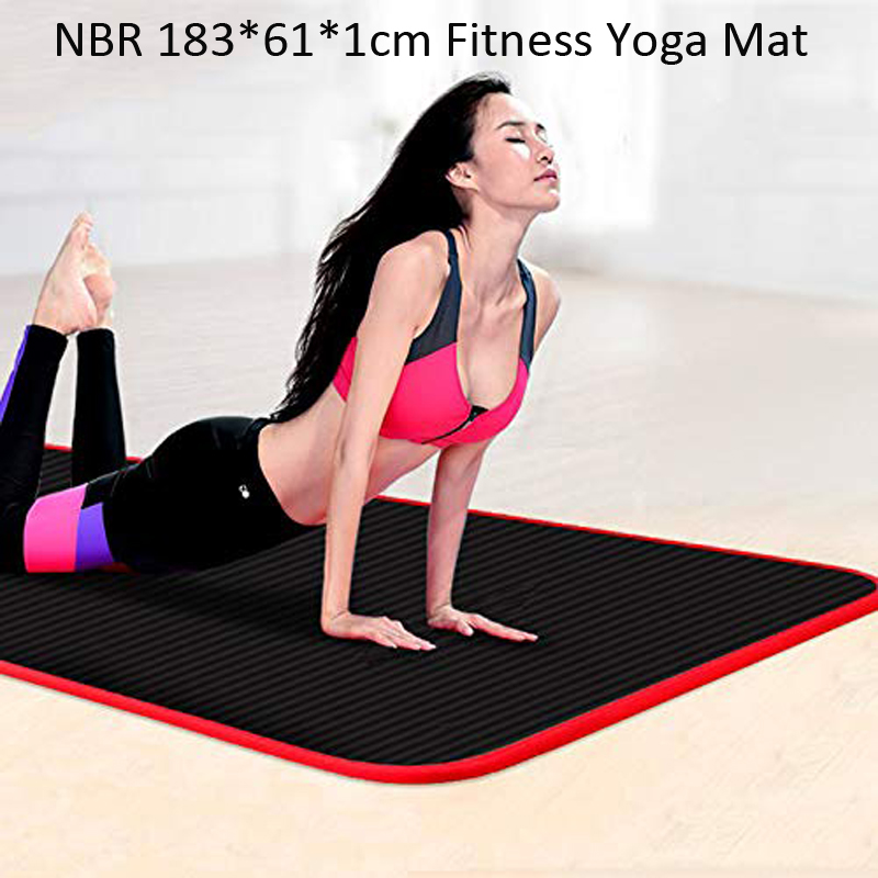 Exercise Sports Gym NBR Non-Slip Mats Fitness Sit-ups Body Shape Training Yoga Mat 10mm Thick Pilates Anti-Tearing Beginner Pads