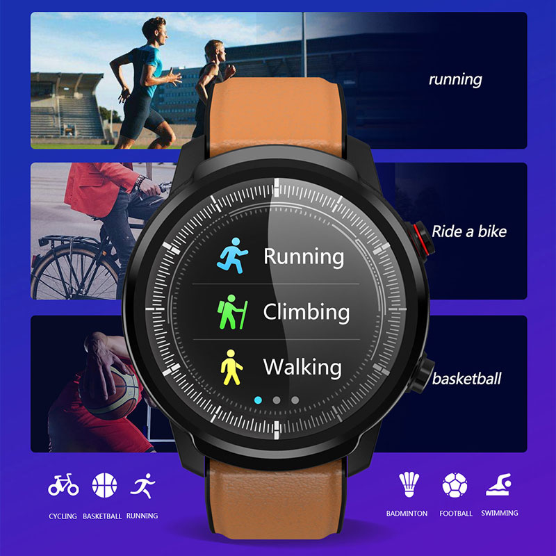 L3 Waterproof Smart Watch with Round Screen Heart Rate Pedometer and Call Message Reminder Smart Activity Tracker for Women Men 13