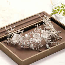 Trendy Bridal Hairband Hair Accessories Silver color Rhinestone Headdress Wedding Hair Jewellery Woman Tiara wedding Accessories trendy bridal tiara handmade silver color rhinestone crystal headband wedding hair accessories princess tiara hair jewellery