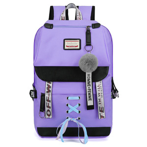 Image 2 - MYT_0220 Pink Oxford Backpack Women School Bags for Teenage Girls Preppy Style Large Capacity USB Back Pack Rucksack Youth