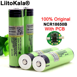 2020 Liitokala Protected Original Rechargeable battery 18650 NCR18650B 3400mah with PCB 3.7V For Flashlight batteries