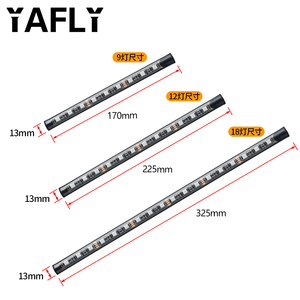 Image 5 - YAFLY Car RGB LED Strip Light LED Strip Lights Colors Car Styling Decorative Atmosphere Lamps Car Interior Light With Remote 12V