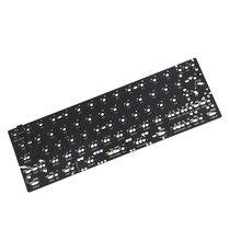 Gh60 64 minila qmk via pcb totalmente programável para diy teclado mecânico yd60 poker suporte hhkb led