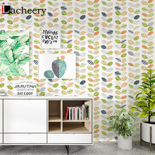 Waterproof Living Room Colorful Leaves Wallpaper Background Wall Stickers Natural Scenery Floral Children Room Wall Decoration(China)