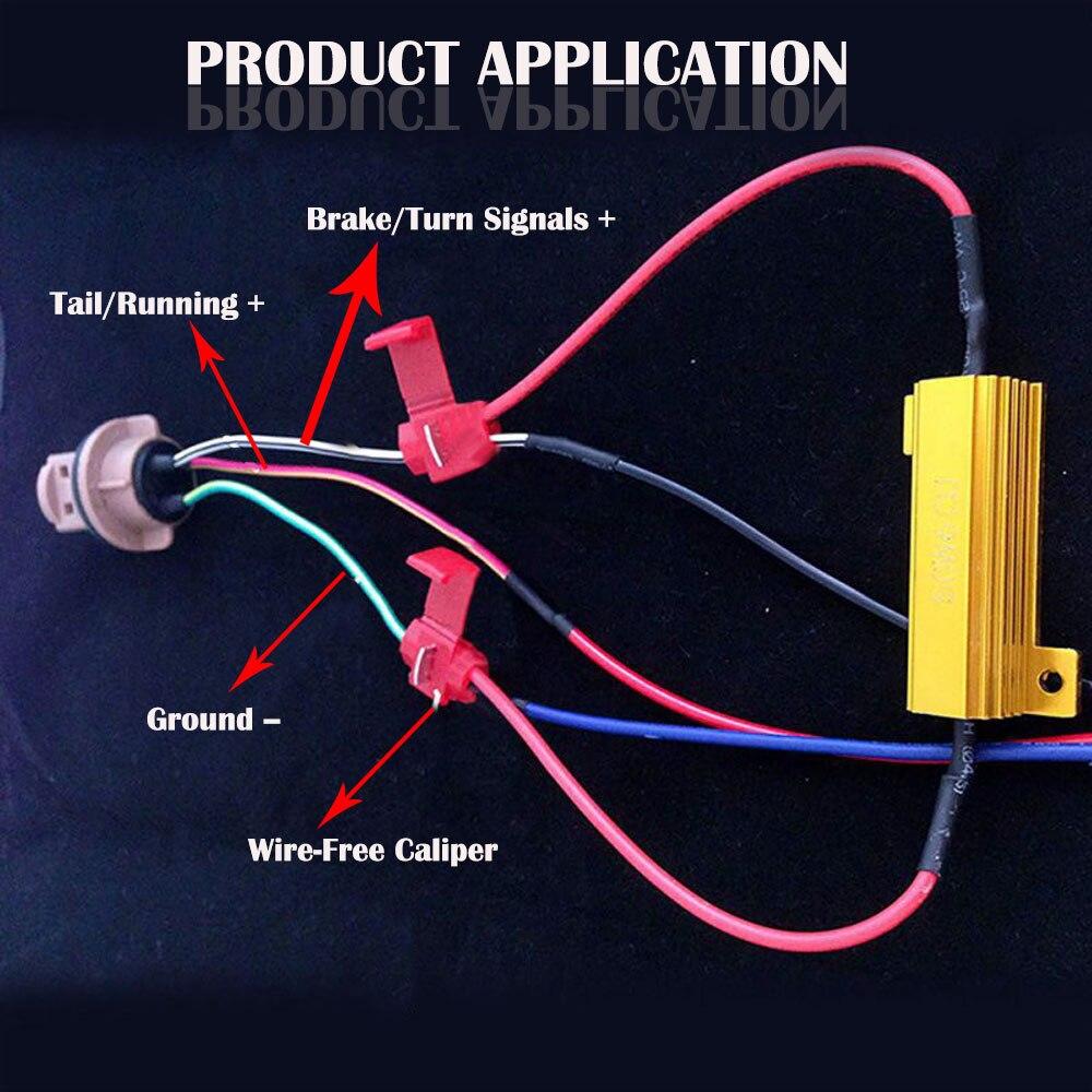 Image 3 - 2x 50W 6ohm LED Bulb Decoder Load Resistor Fix Canbus Error Fast Flash Hyperflash Turn Signal Blinker 12V P21W 1156 PY21WCar Light Accessories   -