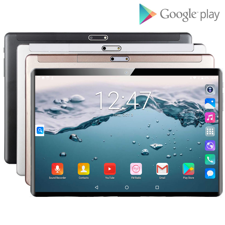 6+128GB 10 Inch Tablet PC 3G 4G LTE Android 9.0 Octa Core Super Tablets Ram 6GB Rom128GB WiFi GPS 10.1 Tablet IPS  Dual SIM GPS