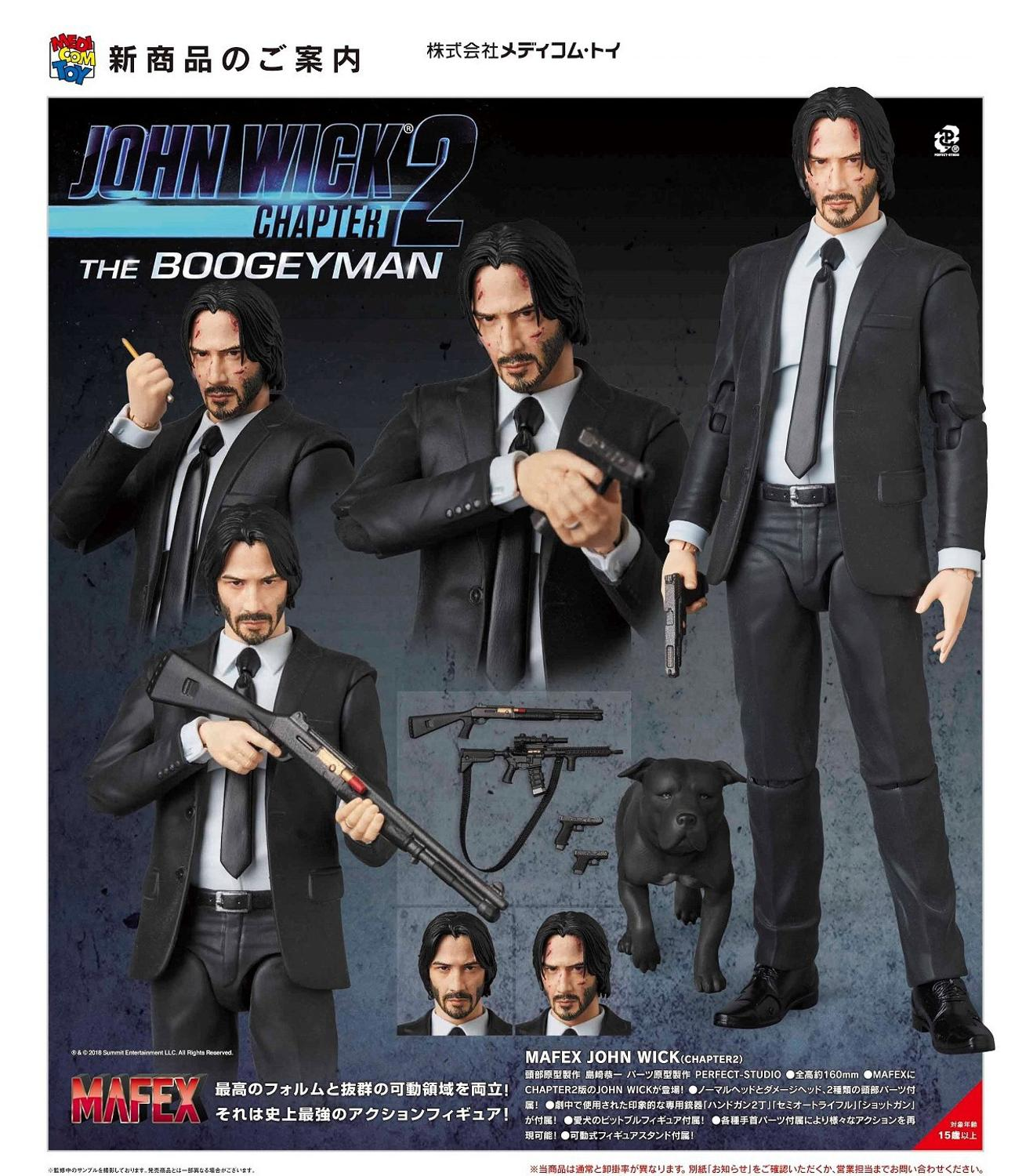 16cm JOHN WICK Chapter 2 Joint movable action figure PVC toys collection doll anime cartoon model image