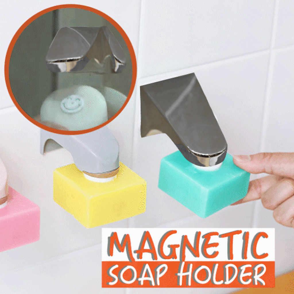 石鹸ホルダー吸引自己粘着シャワーウォールマウント ABS ディスペンサー強力な負荷容量磁気装飾の台所浴室の家