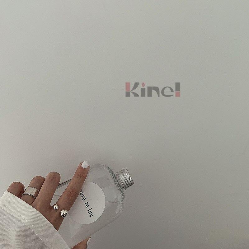 Kinel, подлинное кольцо из стерлингового серебра 925 пробы, геометрические Регулируемые кольца на палец для женщин, свадебные ювелирные изделия для помолвки|Кольца|   | АлиЭкспресс