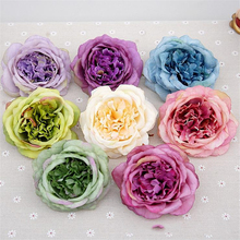 1PC Big Silk Rose Flower Head European style DIY Dress Decoration Artificial Faux Fake Plant Eternal 11 colors