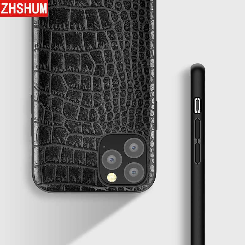 Funda de lujo para Iphone 11 Pro Max piel patrón de cocodrilo Funda de cuero PU cubierta trasera completa para Apple Iphone 11 Pro Max XI Fundas