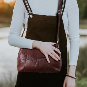 Image 3 - Cobbler Legend 2020 Genuine Leather Women Messenger/Crossbody Bag Ladies Small Shoulder Bags Vintage Female Cowhide Satchels