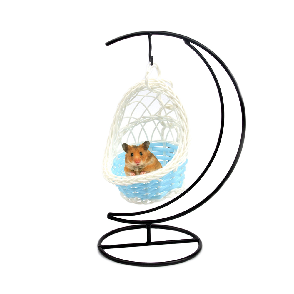 Swing Nest Cages Hanging Bed Hamster Hammock Iron Garden Decorative Parrot Basket Small Pet Cradle Weaving Nest Hanging Bed 4