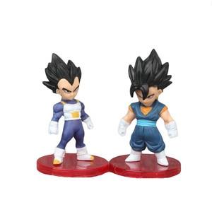 Image 4 - 3 pçs/set Luta Contra a Forma do Anime Dragon Ball Z Super Saiyan Goku Vegeta Preto Figura Coleção Ação PVC Modelo Toy Kid Presente