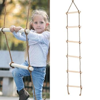 new 10m folding soft ladder fire rescue equipment escape ladder life saving ladder aluminum alloy wire rope ladder for climbing 2020 New Climbing Rope Ladder for Kids(69) 5 Wooden Steps Playground Climbing Game Swing Rope