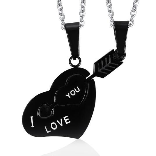 looker i love you ожерелье лучших друзей кулон из нержавеющей фотография