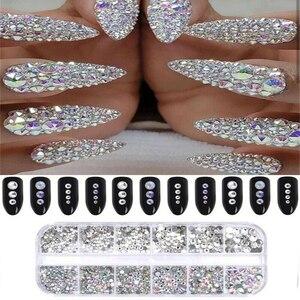 3D Nail Crystal Rhinestone Rec