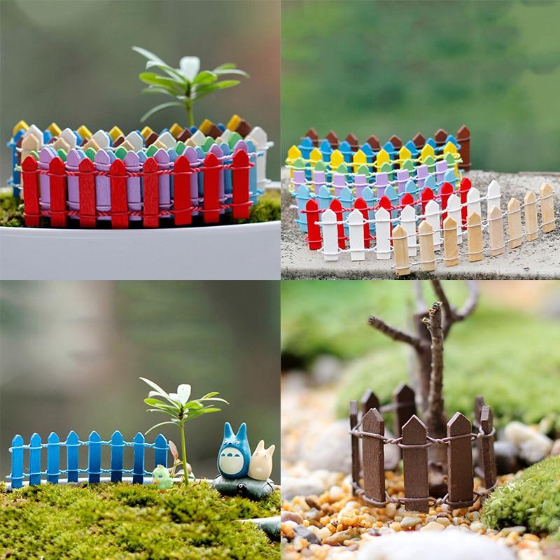 Succulent Wooden Small Fence Garden House Decoration Micro Landscape Small Ornaments Mini Craft Decoration DIY Accessories