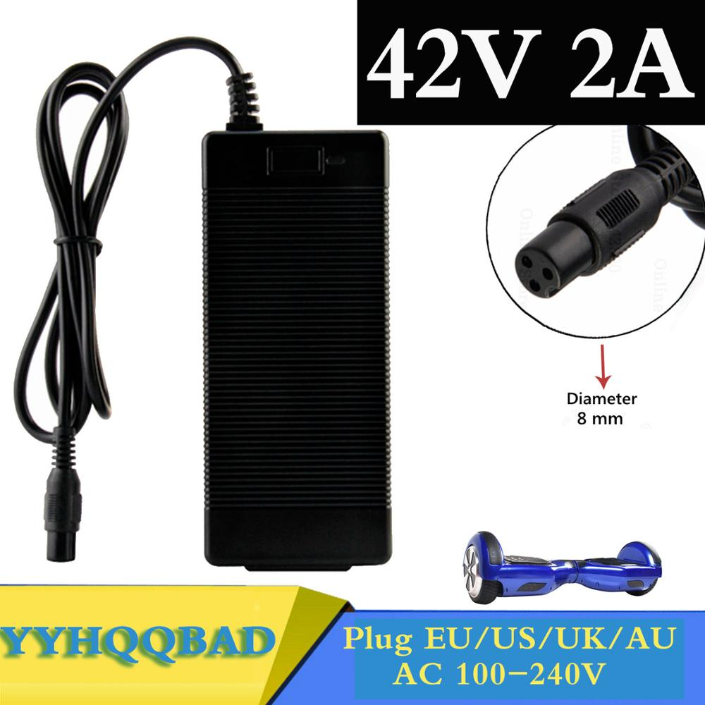 42V 2A Universal Battery Charger for Hoverboard Smart Balance Wheel 36v electric power scooter Adapter Charger EU US AU UK Plug