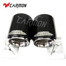 Наконечник глушителя из углеродного волокна, подходит для Mini Cooper R55 R56 R57 R58 R59 R60 R61 F54 F55 F56 F57 F60 мини-наконечник глушителя
