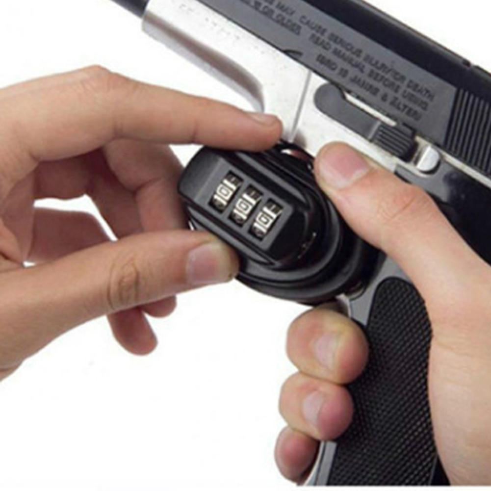 Outdoor Camping Hunting Firearms Anti-Fire Safety Trigger Targeting Password Lock For Glock Safety Pistol Lock Safety Hunting