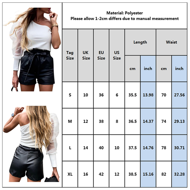 PU Leather High Waist Shorts Women Black Shorts With Belt Bow Casual Sexy Short Fashion Streetwear Ladies Autumn Winter D30 6