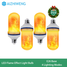 Flame Light Bulb (4 Pack) | LED Flame Effect Light Bulbs with Upside Inverted Realistic Flickering Faux Flames | 5 Watt 150 Lume